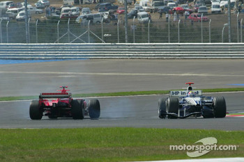 Crash of Mark Webber and Michael Schumacher