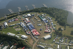 Aerial view of the service area