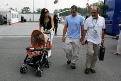Juan Pablo Montoya with wife Connie and son Sebastian