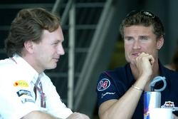 Christian Horner and David Coulthard
