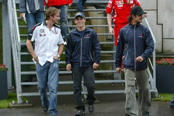 Jenson Button, Christian Klien and Vitantonio Liuzzi