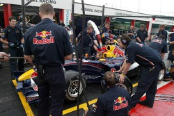 Pitstop practice at Red Bull Racing