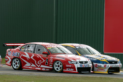 Craig Lowndes and Mark Skaife through Turn 1