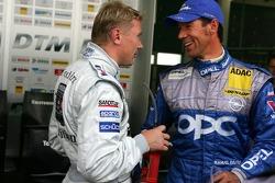 Mika Hakkinen and Manuel Reuter