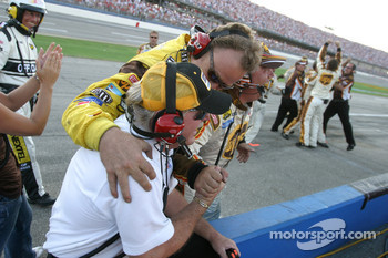 An emotional Robert Yates celebrates victory