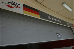 Garage area of Nico Rosberg