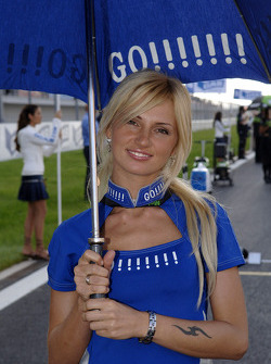 A lovely Gauloises umbrella girl