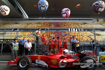 Ferrari F2005 at technical inspection