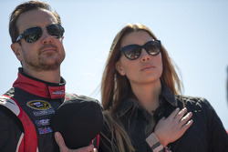 Kurt Busch, Stewart-Haas Racing Chevrolet, with girlfriend