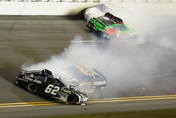 Brian Scott, Richard Childress Racing Chevrolet, Bobby Labonte, GoFAS Racing Ford, Danica Patrick, Stewart-Haas Racing Chevrolet in trouble