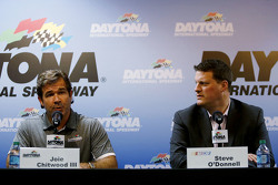 Joie Chitwood III, Daytona International Speedway and NASCAR Senior Vice President Steve O'Donnell talk about adding SAFER barriers to the track following Kyle Busch's crash