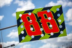 Dale Earnhardt Jr., Hendrick Motorsports Chevrolet pit sign