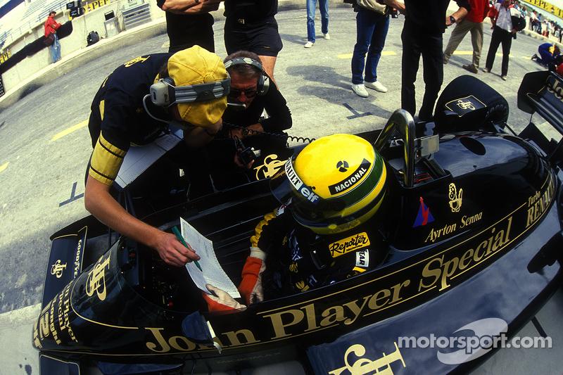 Ayrton Senna, Lotus, mit Gérard Ducarouge