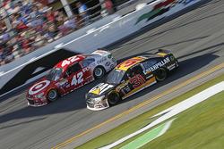 Kyle Larson, Ganassi Racing Chevrolet, Ryan Newman, Richard Childress Racing Chevrolet