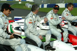 Andrea de Cesaris, Derek Warwick, Nigel Mansell and Christian Danner