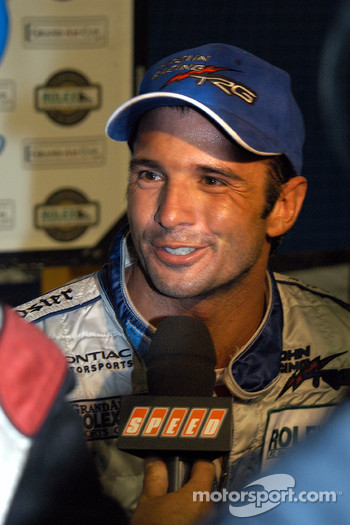 Victory lane: race winner Christian Fittipaldi