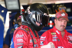 Dale Earnhardt Jr. prepares to qualify