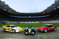 The Xsara WRC, the Renault F1 and the Porsche GT3 Road Challenge