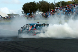 V8 Supercar 2005 champion Russell Ingall celebrates