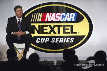 NASCAR Chairman & CEO Brian France answers questions at a press luncheon