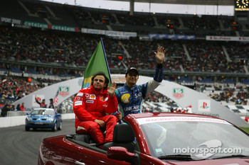 Drivers presentation: Felipe Massa and Nelson A. Piquet