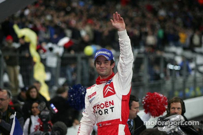 Race of Champions winner Sébastien Loeb celebrates