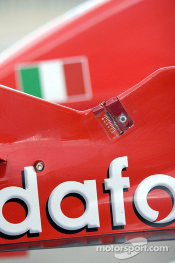 Detail of the Ferrari