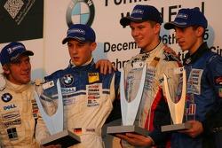 Podium: winner Marco Holzer with Sebastien Buemi and Nicolas Huelkenberg