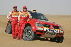 Team Repsol Mitsubishi Ralliart: Hiroshi Masuoka and Pascal Maimon