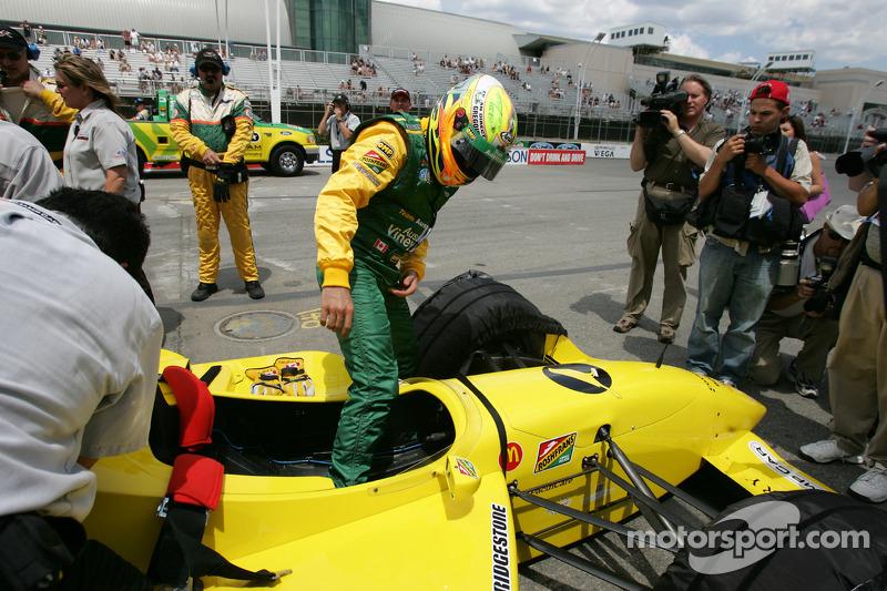Champ Car 2-seater experience: Alex Tagliani climbs aboard