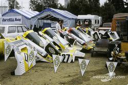 Racing Organisation Corse paddock area