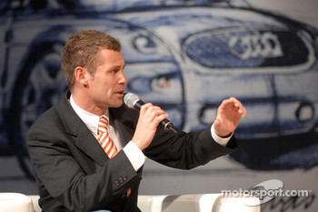 Tom Kristensen at the Audi Designers Tuesday