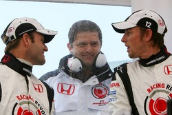 Rubens Barrichello, Gil de Ferran and Jenson Button