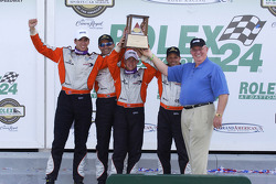 Second place overall: Justin Wilson, Oswaldo Negri, Mark Patterson, A.J. Allmendinger