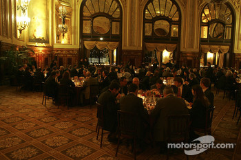 Dinner party with sponsors and partners of Renault F1 at Casino de Monaco