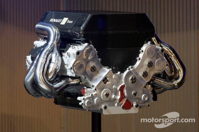 The Renault RS26 V8 engine