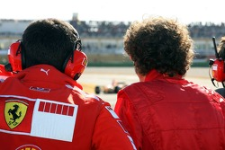 Valentino Rossi watches test action