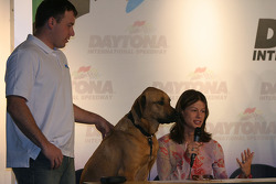 Pit Road Pets book presentation: Ryan and Krissie Newman with pet dog