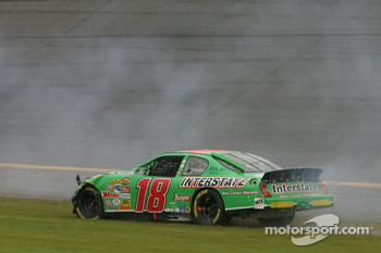 J.J. Yeley spins in the grass
