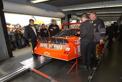 Tony Stewart's car in NASCAR inspection