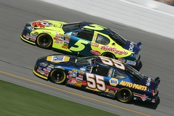Michael Waltrip and Kyle Busch