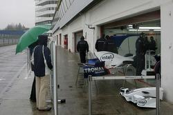 BMW pit area