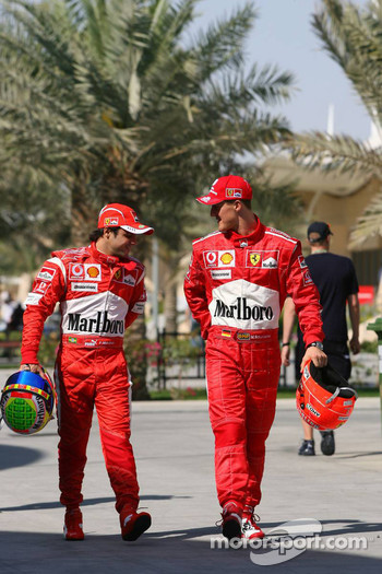 Felipe Massa and Michael Schumacher