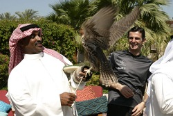 McLaren media breakfast at the Ritz Hotel: Pedro de la Rosa with a guest