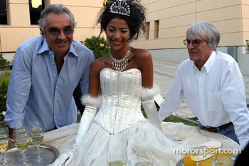 Bernie Ecclestone and Flavio Briatore in charming company