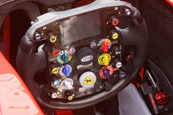 Steering wheel of the Ferrari
