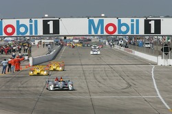 #1 Audi Sport North America Audi R10 TDI Power: Frank Biela, Emanuele Pirro, Marco Werner leads the field to pace lap