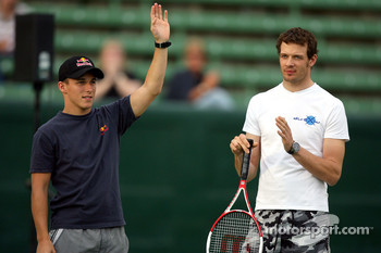 Pitstop tennis Pro-Am charity event: Christian Klien and Alexander Wurz