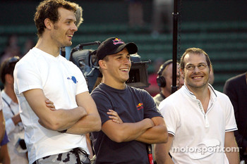 Pitstop tennis Pro-Am charity event: Alexander Wurz, Christian Klien and Jacques Villeneuve