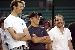 Pitstop tennis Pro-Am charity event: Alexander Wurz, Christian Klien and Jacques Villeneuve